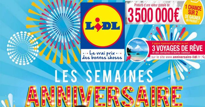 jeu code ticket semaines anniversaire lidl. Black Bedroom Furniture Sets. Home Design Ideas