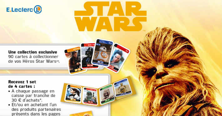 Collection cartes stickers Star Wars Leclerc