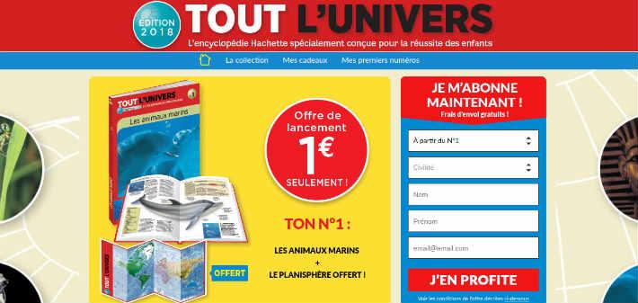 www.collection-toutlunivers.com - La collection Hachette Tout l Univers 2018