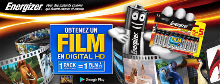 www.energizermovies.com - Opération achat piles Energizer film offert