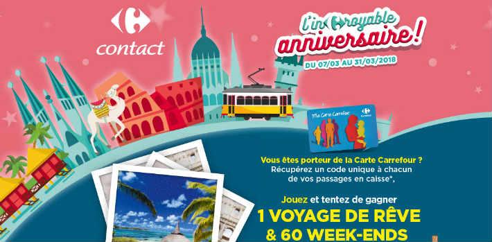 Carrefour.fr/incroyable-anniversaire - Jeu Carrefour Contact 2018