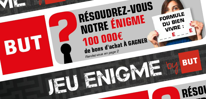 Le grand jeu énigme BUT - www.but.fr/enigme