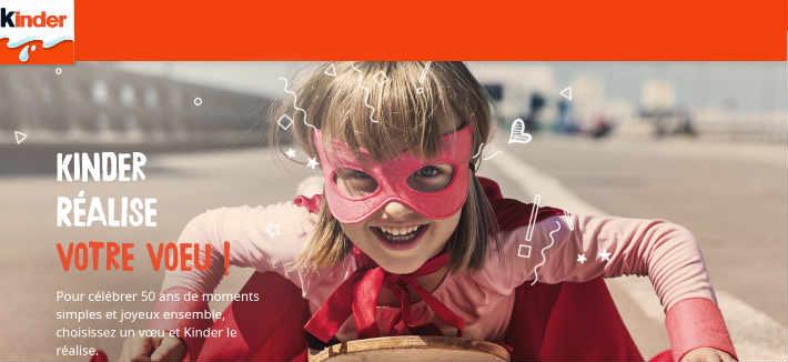 Kinder.com/50 anniversaire - Kinder 50 ans 1 produit acheté un voeu