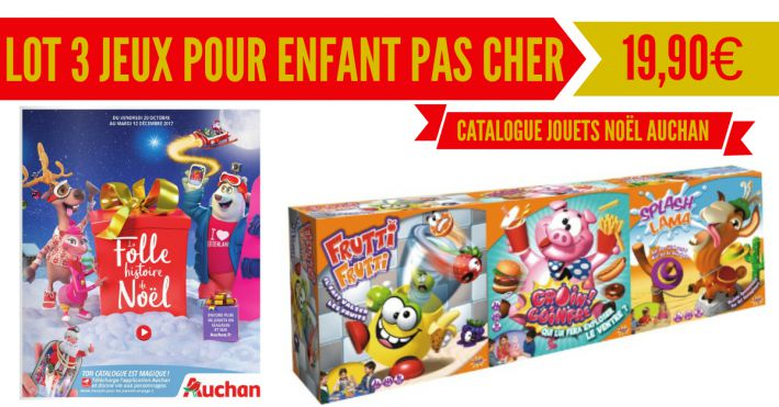 lot de 3 jeux enfant splash toys pas cher catalogue no l auchan. Black Bedroom Furniture Sets. Home Design Ideas