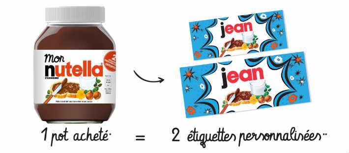 Nutella.com mes étiquettes Nutella personnalisées