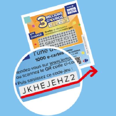 Où trouver le code du jeu Le Mois Carrefour