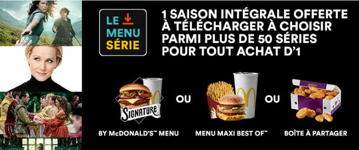 Mcdonalds série TV offerte www.mcdonalds.fr/le-menu-serie