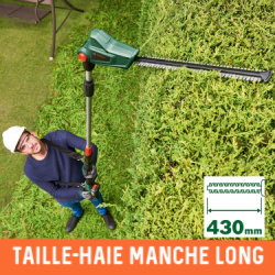 Taille haie long manche