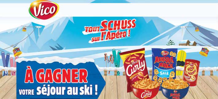 Vicoaperoski.fr - Grand jeu Vico tout schuss apéro ski
